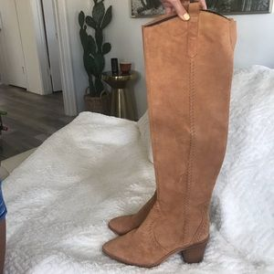 Knee high suede boot. Rebecca minkoff